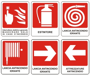 Segnaletica antincendio for Simboli antincendio dwg